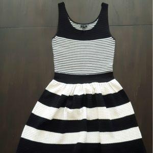 Jessica Simpson A Line Striped Dress